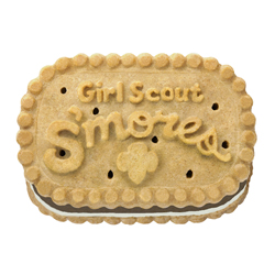 059c2e5ce7aeb Girl Scout S mores® Crunchy graham sandwich cookies with creamy chocolate  and marshmallowy filling.